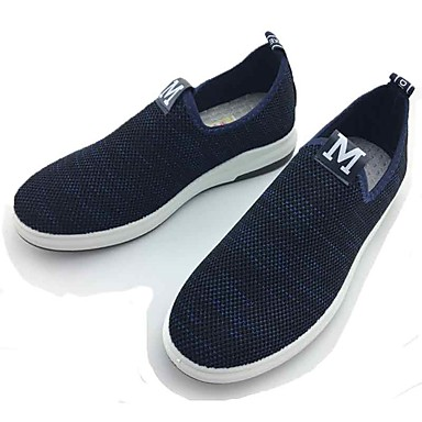Men's Shoes Fabric Spring Fall Comfort Loafers & Slip-Ons Walking Shoes for Casual Outdoor Black Blue