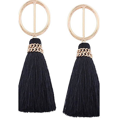 Women's Drop Earrings Jewelry Tassel Euramerican Oversized EVA Resin Alloy Geometric Jewelry For Wedding Anniversary Dailywear Dress