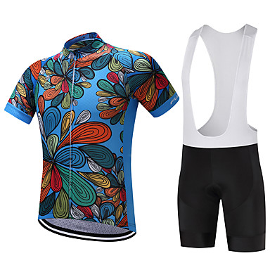 FUALRNY® Cycling Jersey with Bib Shorts Men's Short Sleeves Bike Clothing Suits Bike Wear Quick Dry Moisture Permeability Lightweight