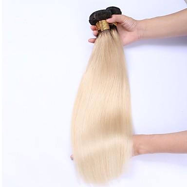 3 csomag Perui haj Egyenes Emberi haj Ombre Ombre Emberi haj sző Human Hair Extensions