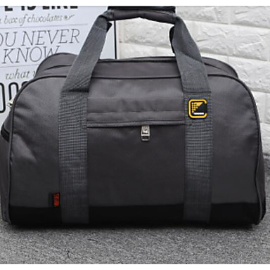 Unisex Travel Bag Oxford Cloth Polyester All Seasons Casual Outdoor Rectangle Zipper Blue Black Gray