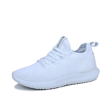 Men's Shoes Fabric Spring Summer Comfort Light Soles Sneakers For Casual White Black Blue