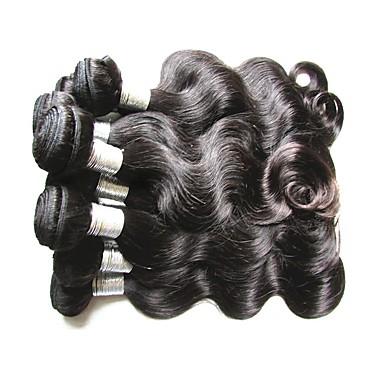 Menneskehår Vevet Brasiliansk hår Krop Bølge hår vever