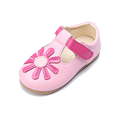 Girls' Shoes PU Spring Fall Comfort First Walkers Sneakers Flower Magic Tape for Casual Dress White Yellow Pink