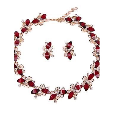 Women's Rhinestone Jewelry Set - Classic / Euramerican / Fashion Taper Shape Red Jewelry Set / Bridal Jewelry Sets For Christmas Gifts /