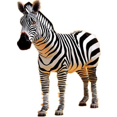 voordelige 3D-puzzels-3D-puzzels Bouwplaat Modelbouwsets Paard Zebra Dieren DHZ Simulatie Hard Kaart Paper Klassiek Kinderen Unisex Speeltjes Geschenk