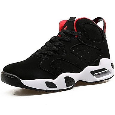 Men's Athletic Shoes Comfort Spring Fall PU Outdoor Black Black/White Black/Red Flat