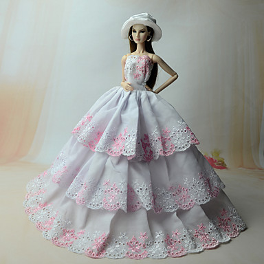 Dresses Dress For Barbie Doll Linen/Cotton Organza Dress For Girl's Doll Toy