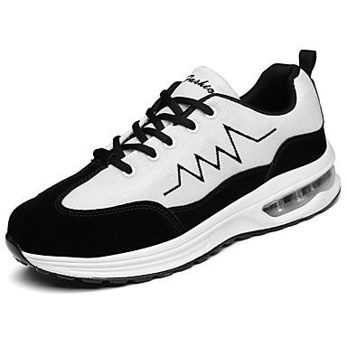Unisexo Sapatos Courino Tule Primavera Outono Solados com Luzes Conforto Tênis Sem Salto Ponta Redonda Cadarço para Casual Ao ar livre