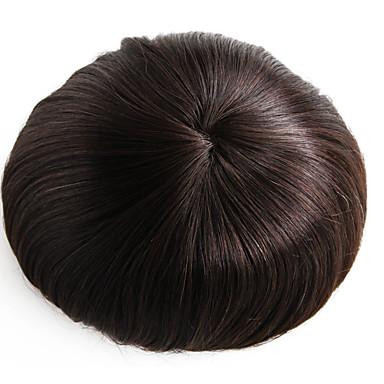8x10 tuumaa mens hiuslisäke peruukki mono emäksen hiukset pala # 3 hiukset hiuslisäke-6 tuuman hiuksista
