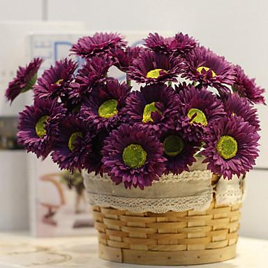 Flores artificiais 10 Ramo Moderna / Modern Plantas Flor de Mesa