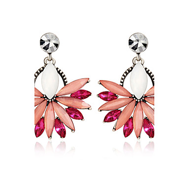 Bohemia Fashion Vintage 3 Color Acrylic Wedding Drop Earring for Women Sector Shaped Crystal Earrings Bijoux Party Statement Jewelry Boucle