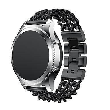 Pulseiras de Relógio para Gear S3 Classic Gear S3 Classic LTE Samsung Galaxy Fecho Clássico Aço Inoxidável Tira de Pulso