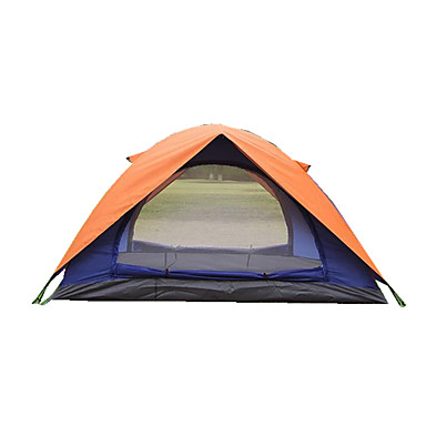 2 persons Tent Double Camping Tent Fold Tent Moistureproof/Moisture Permeability Waterproof Thermal / Warm Ultraviolet Resistant