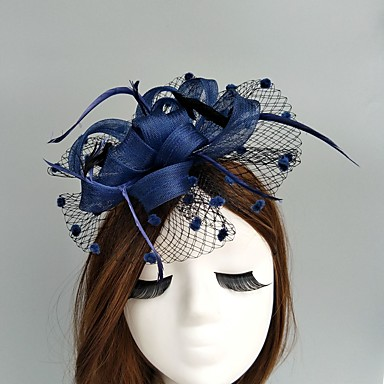 flax net fascinators bonés birdcage veils headpiece elegant style