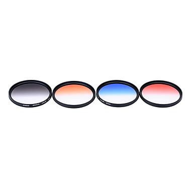 Andoer Professional 67mm GND Graduated Filter Set GND4(0.6) Gray Blue Orange Red Graduated Neutral Density Filter