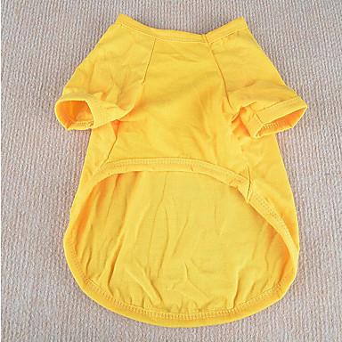 Koira T-paita Koiran vaatteet Rento/arki Tukeva Keltainen Punainen Vihreä Sininen Pinkki Asu Lemmikit