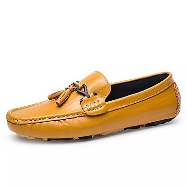 Férfi cipő PU Tavasz / Ősz Kényelmes Papucsok & Balerinacipők Fekete / Sárga
