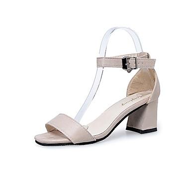 Damen Schuhe Wildleder Sommer Komfort Sandalen Walking Block Ferse Offene Spitze für Normal Schwarz Beige Burgund