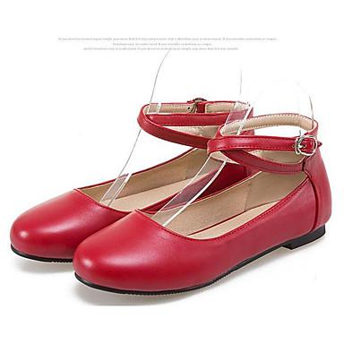 Damen Schuhe PU Frühling Sommer Komfort Sandalen Für Normal Weiß Schwarz Rot