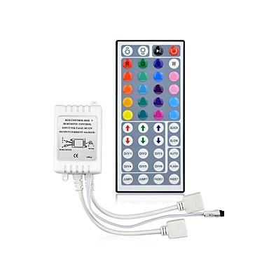 ราคาถูก อุปกรณ์เสริมหลอดไฟ-44 คีย์รีโมทคอนโทรล dc12v เอาต์พุตรีโมทคอนโทรลแบบอินฟราเรด rgb controller lamp 10 เมตร 3528 2835 5050 ลดแสงแถบนำแสงพร้อมแบตเตอรี่