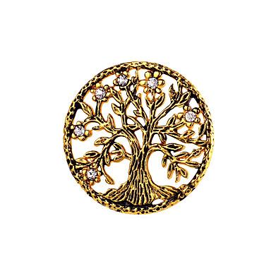Férfi / Női Az élet fája Rozsdamentes acél Melltűk - Személyre szabott / Divat Arany / Fehér Bross Kompatibilitás Ajándék / Hivatal és