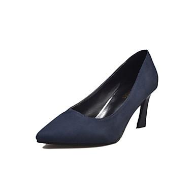 Women's Cashmere Summer Basic Pump Heels Stiletto Heel Pointed Toe Black / Dark Blue / 3-4