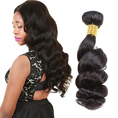 6 csomag Perui haj Laza hullám Szűz haj Az emberi haj sző 8-26 hüvelyk Emberi haj sző Human Hair Extensions