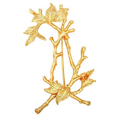 Férfi / Női Az élet fája Arannyal bevont Melltűk - Személyre szabott / Divat Arany / Fehér Bross Kompatibilitás Ajándék / Hivatal és