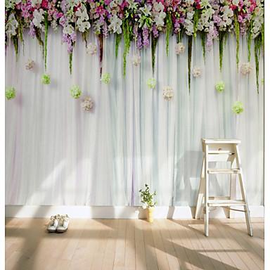 3D Virág Klasszikus lakberendezési Rusztikus Stílus Modern/kortárs Falburkolat, Vászon Anyag ragasztószükséglet Falfestmény, szoba