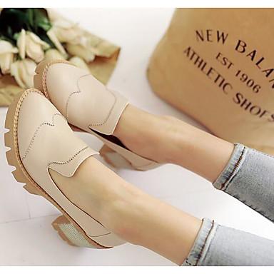 Damen Schuhe PU Frühling Sommer Komfort Loafers & Slip-Ons Für Normal Schwarz Beige Rosa
