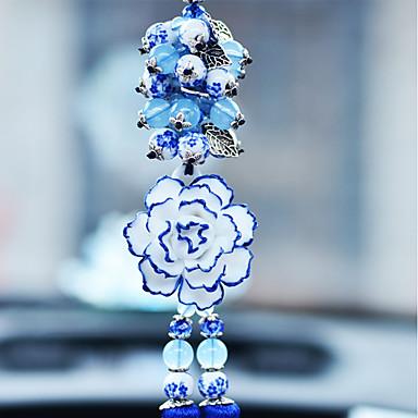 DIY autóipari medálok elegáns virágautó medál&Kerámia dísztárgyakat