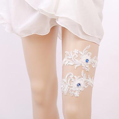 Elasztikus Lábmelegítők Party Szexi Esküvő Wedding Garter  -  Strasszkő Rátétek Harisnykötők
