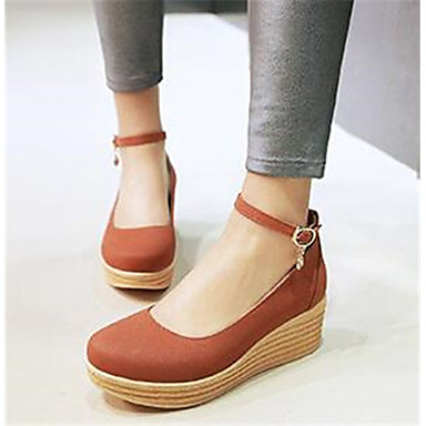 Damen Schuhe PU Frühling Sommer Komfort High Heels Für Normal Weiß Braun Rosa