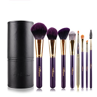 8pcs Makeup Brushes Professional Synthetic Hair / Artificial Fibre Brush Portable / Adjustable / Easy to Carry Aluminium / Wood