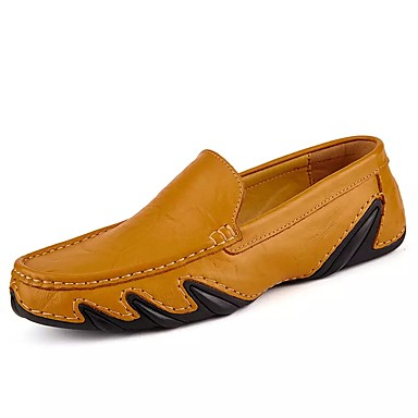 Men's Nappa Leather Fall / Winter Comfort Loafers & Slip-Ons Black / Dark Blue / Light Brown / Party & Evening