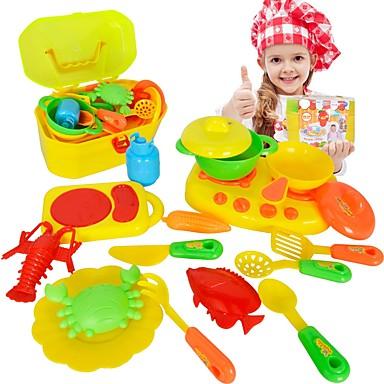 Imposta Cucina Giocattolo Toy Piatti E Servizi Da Tè Apparecchi Di Cottura Per Bambini Plastica Abs Per Bambini Da Ragazzo Giocattoli Regalo 16 Pcs #06179028
