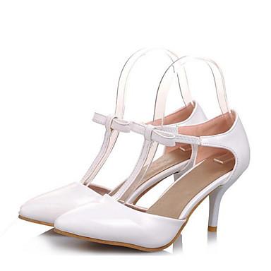 Damen Schuhe Echtes Leder PU Sommer Komfort Pumps High Heels Für Normal Weiß Schwarz Purpur Rosa