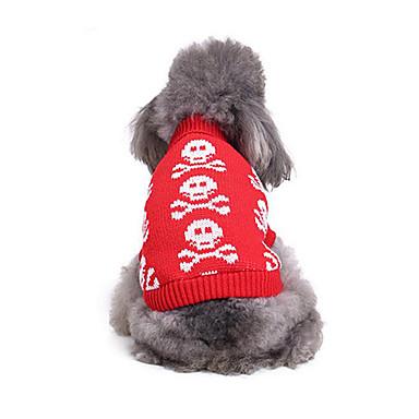 Katze Hund Pullover Hundekleidung Lässig/Alltäglich Knochen Kostüm Für Haustiere