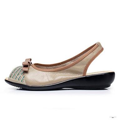 Damen Schuhe PU Sommer Komfort Sandalen Für Normal Kamel