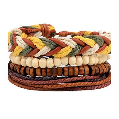 Men's / Women's Strand Bracelet / Wrap Bracelet - Leather Personalized, Bohemian, Rock Bracelet Brown For Daily / Casual / Street