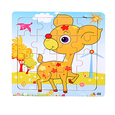 Fejtörő Fából készült építőjátékok Fejlesztő játék Nap Szarvas Tengeri állat Other Állatok Fa Rajzfilmfigura Uniszex Ajándék