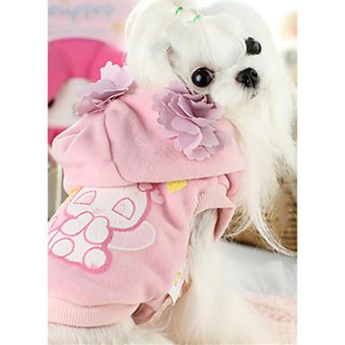 Hund Kapuzenshirts Weste Hundekleidung Warm Lässig/Alltäglich Tier Rosa Kostüm Für Haustiere