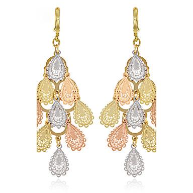 Női Luxus / Bojt Golyó Páva Rózsa arany bevonattal Függők - Luxus / Bojt / Vintage Vörös arany Kör / Páva Fülbevaló Kompatibilitás Esküvő