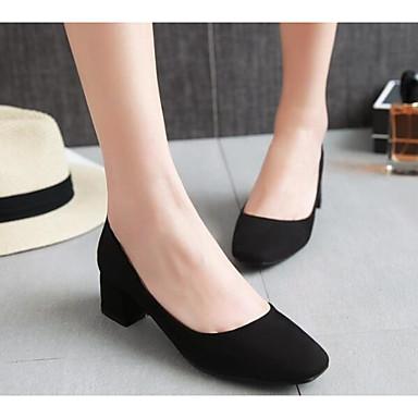 Damen Schuhe Echtes Leder PU Sommer Komfort Loafers & Slip-Ons Für Normal Schwarz Grau Mandelfarben