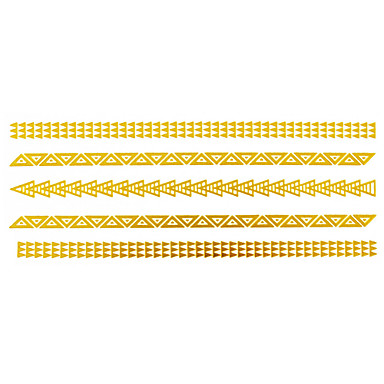 Tatoeagestickers - Patroon - Sieraden Series - voor Dames/Girl/Volwassene/Tiener - Goud - Papier - #(1) - stuks #(14x6)