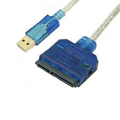 USB 2.0 Adapterkabel, USB 2.0 to SATA II Adapterkabel Male - Female 0.8m (2.6Ft)