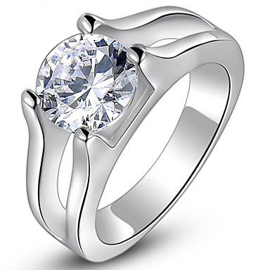 Damen Ringformen Ring Bandringe Kubikzirkonia Personalisiert Luxus Geometrisch Einzigartiges Design Grundlegend Freundschaft nette Art