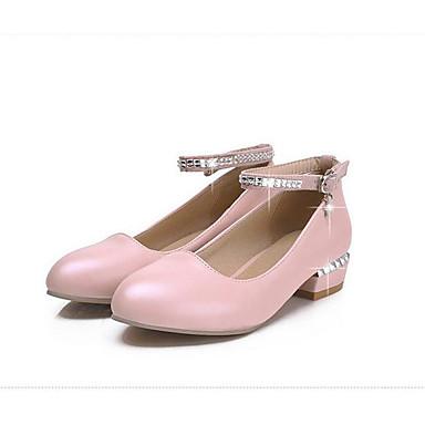Damen Schuhe PU Frühling Herbst Komfort High Heels Für Normal Weiß Beige Grün Leicht Rosa
