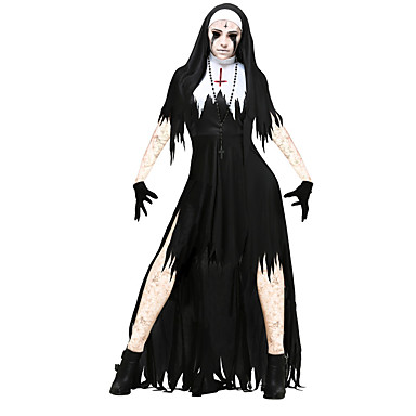 c5df93a062f2 Bloody Mary Robes Costume de Cosplay Homme Femme Halloween Carnaval Le jour  des morts Fête